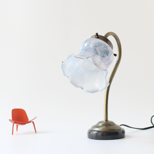 vintage glass table lamp #02
