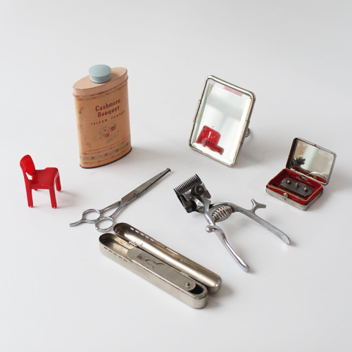 vintage barbershop collectibles