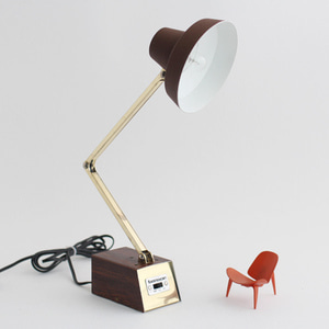 vintage BROWN desk lamp #02