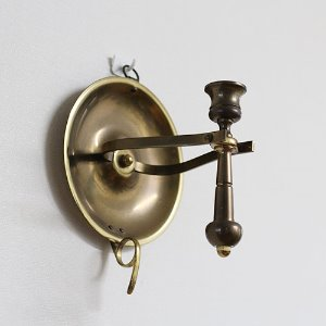 Vintage Brass Finger Loop CANDLE HOLDER