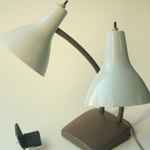 vintage brown 2 cone lamp