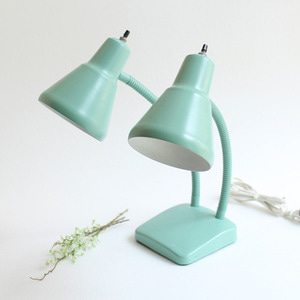 vintage green 2 cone lamp